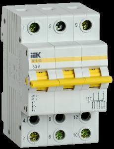 Выключатель-разъединитель трехпозиционный ВРТ-63 3P 50А IEK