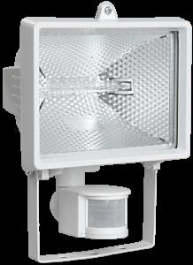 Прожектор галогенный ИО500Д (детектор) IP54 белый IEK