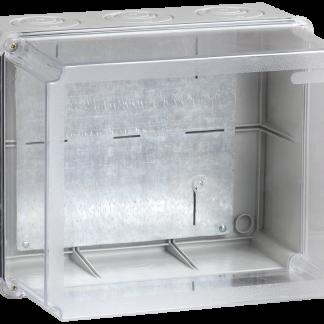 Коробка распаячная КМ41348 для о/п 240х195х165мм IP55 (RAL7035, монтажная плата, кабельные вводы 5шт) IEK