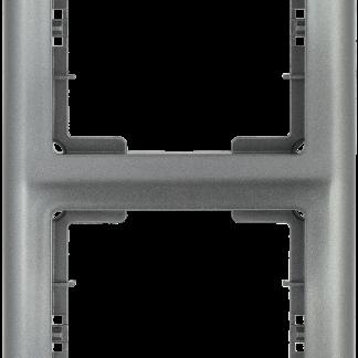Рамка 2-местная вертикальная РB-2-БА BOLERO антрацит IEK