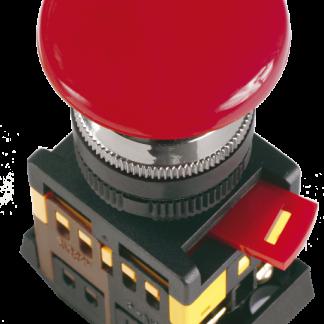 """Кнопка управления AEAL22 """"Грибок"""" d=22мм 1з+1р 240В с фиксацией красная IEK"""