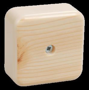 Коробка распаячная КМ41206-04 для о/п 50х50х20мм сосна (4 клеммы 3мм2) IEK