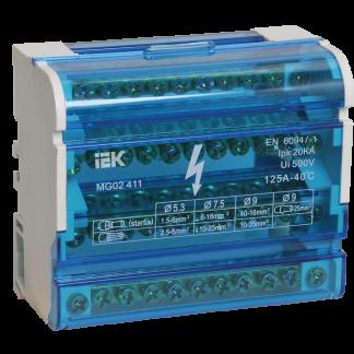 Шины на DIN-рейку в корпусе (кросс-модуль) ШНК 4х11 3L+PEN IEK