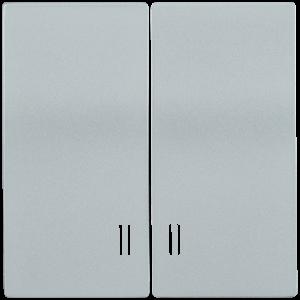 Накладка 2 клавиши с индикацией HB-2-1-БС BOLERO серебряный IEK