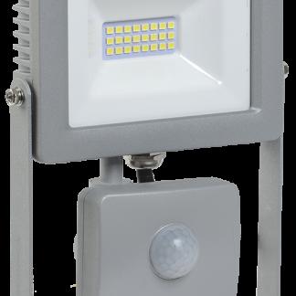 Прожектор светодиодный СДО 07-20Д с датчиком движения IP44 серый IEK