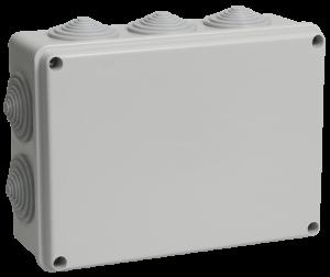 Коробка распаячная КМ41244 для о/п 190х140х70мм IP55 (RAL7035, 10 гермовводов) IEK