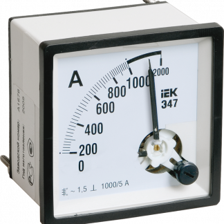 Амперметр Э47 1000/5А класс точности 1,5 96х96мм IEK