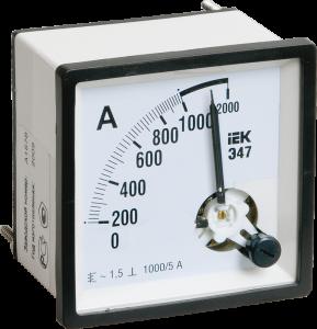 Амперметр Э47 2000/5А класс точности 1,5 96х96мм IEK