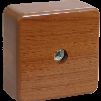 Коробка распаячная КМ для о/п 50х50х20мм дуб IEK