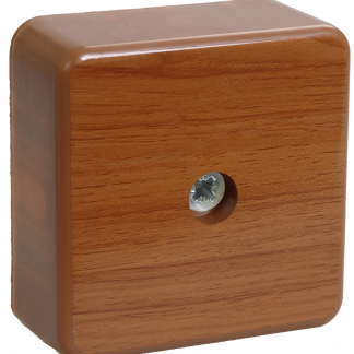 Коробка распаячная КМ41206-05 для о/п 50х50х20мм дуб (4 клеммы 3мм2) IEK
