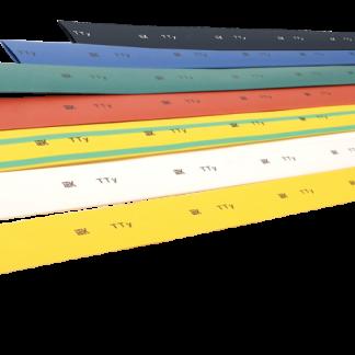 Трубка термоусаживаемая ТТУ 4/2 желто-зеленая (1м) IEK