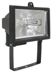 Прожектор галогенный ИО150 IP54 черный IEK