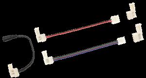 Комплект коннекторов 9шт для 8мм MONO и RGB LED ленты блистер IEK-eco