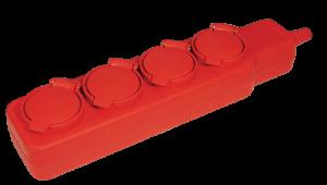 Удлинитель У04В 4 места с защитными крышками IP44 2Р+PE/5м 3х1мм2 16А/250В IEK