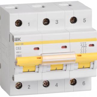Автоматический выключатель ВА47-100 3Р 100А 10кА х-ка С IEK