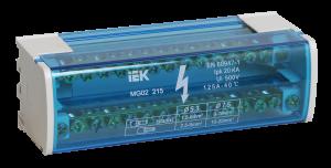 Шины на DIN-рейку в корпусе (кросс-модуль) ШНК 2х15 L+PEN IEK