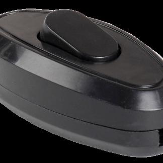 Выключатель 1-клавишный разборный для бра ВБ-01Ч черный IEK