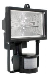 Прожектор галогенный ИО150Д (детектор) IP54 черный IEK