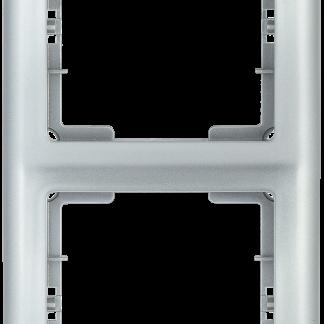 Рамка 2-местная вертикальная РB-2-БС BOLERO серебряный IEK