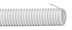 Труба гофрированная ПВХ d=25мм с зондом (10м) IEK