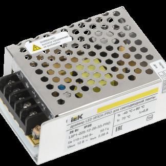 Драйвер LED ИПСН-PRO 25Вт 12В блок-клеммы IP20 IEK