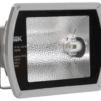 Прожектор металлогалогенный ГО02-150-01 симметричный 150Вт Rx7s IP65 серый IEK