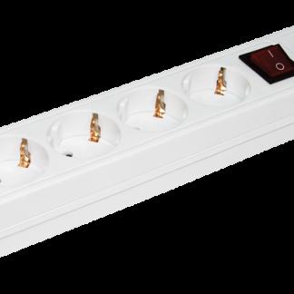 Сетевой фильтр СФ-05К-выкл. 5 мест 2Р+PЕ/1,5метра 3х1мм2 IEK