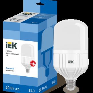 Лампа светодиодная HP 50Вт 230В 6500К E40 IEK