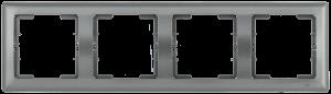 Рамка 4-местная горизонтальная РГ-4-БА BOLERO антрацит IEK