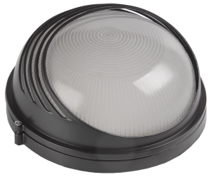 Светильник НПП1107 круг ресничка 100Вт IP54 белый IEK