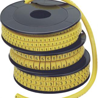 """Маркер кабельный МК1- 2,5мм символ """"4"""" (1000шт/упак) IEK"""