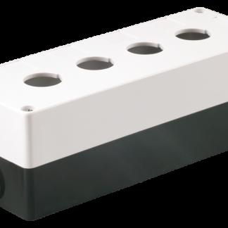 Корпус поста КП104 для кнопок управления 4 места белый IEK