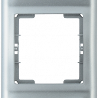 Рамка 3-местная вертикальная РB-3-БС BOLERO серебряный IEK