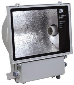 Прожектор металлогалогенный ГО03-250-01 симметричный 250Вт E40 IP65 серый IEK