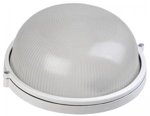 Светильник НПП1301 круг 60Вт IP54 белый IEK