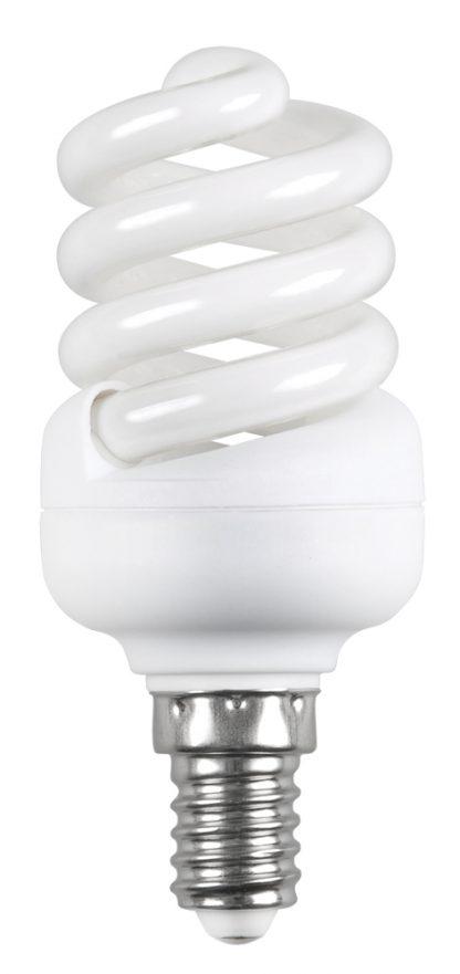Лампа энергосберегающая КЭЛ-FS спираль Е14 9Вт 2700К Т2 IEK