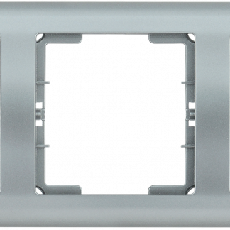 Рамка 5-местная горизонтальная РГ-5-БС BOLERO серебряный IEK