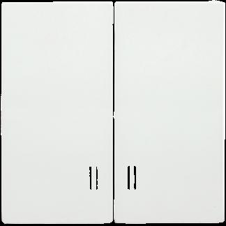 Накладка 2 клавиши с индикацией HB-2-1-ББ BOLERO белый IEK
