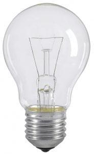 Лампа накаливания A55 шар прозрачная 40Вт E27 IEK
