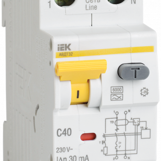 Автоматический выключатель дифференциального тока АВДТ32 C6 IEK