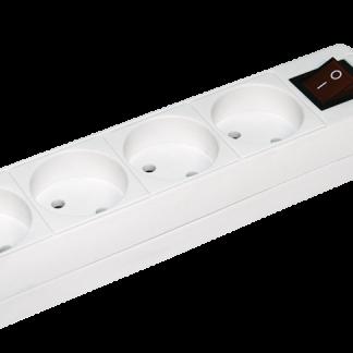 Удлинитель У4К-выкл. 4 места 2Р/5метров 2х0,75мм2 10А/250 IEK