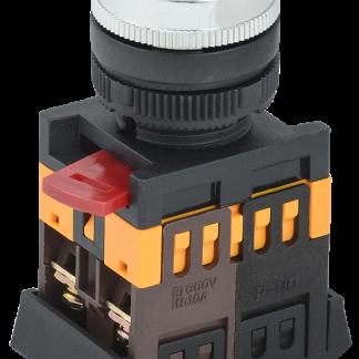 Кнопка ABLFS-22 прозрачный d=22мм неон/240В 1з+1р IEK