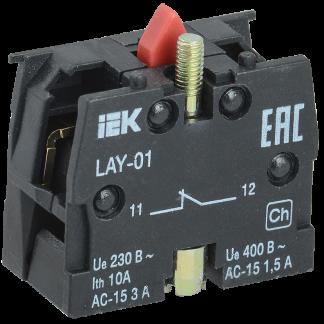Контактный блок 1р для серии LAY5 IEK