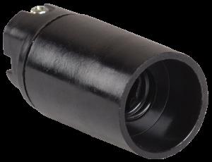 Патрон подвесной Пкб14-04-К01 карболитовый Е14 черный (50шт) (стикер на изделии) IEK