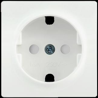 Накладка розетка НР-2-1-ББ с заземляющим контактом с защитной шторкой BOLERO белый IEK
