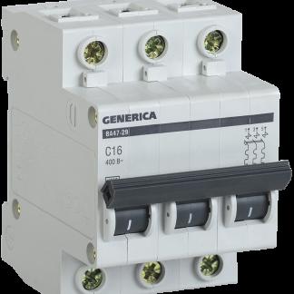 Автоматический выключатель ВА47-29 3Р 25А 4,5кА х-ка С GENERICA