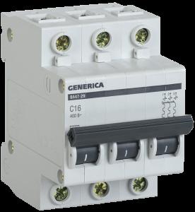 Автоматический выключатель ВА47-29 3Р 32А 4,5кА х-ка С GENERICA