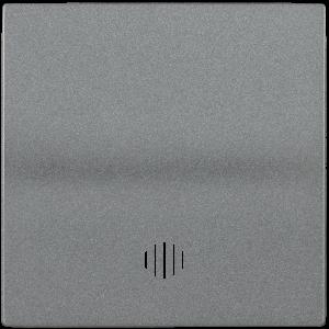 Накладка 1 клавиша с индикацией HB-1-1-БА BOLERO антрацит IEK