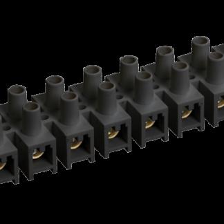 Зажим контактный винтовой ЗВИ-10 н/г 2,5-6мм2 черный (2шт/блистер) IEK