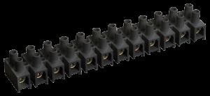 Зажим контактный винтовой ЗВИ-10 н/г 2,5-6мм2 12пар черный IEK